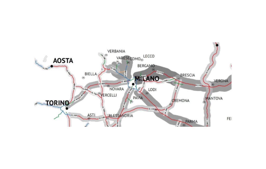Flussi autostradali e pedaggiamento per tratta